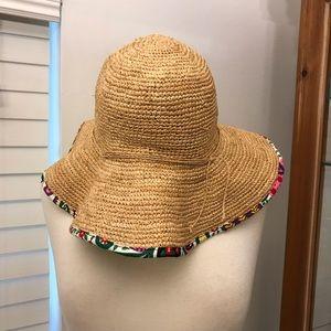 Vera Bradley Wide Brim Straw Hat